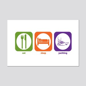 Eat Sleep Yachting Mini Poster Print
